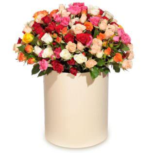 Цветы в коробке «Восторг»