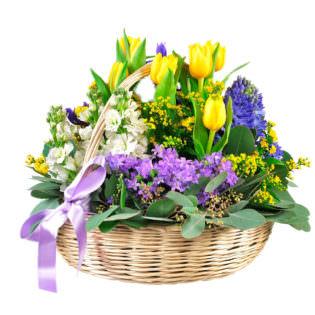 Корзина с цветами «Премьера»