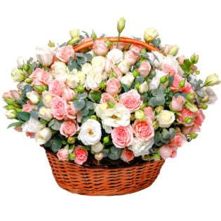 Цветы в корзинке «Интрига»