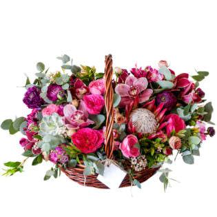 Цветы в корзинке «Карнавал»