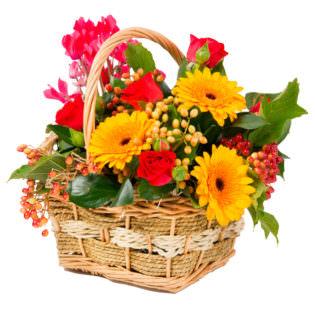 Цветы в корзинке «Лучезарный»