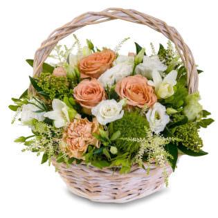 Цветы в корзинке «Секрет любви»